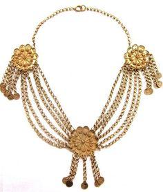 Vintage Brass Swag Necklace