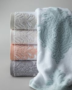 """""""Roma"""" Towels by Kassatex at Neiman Marcus."""