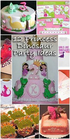Princess Dinosaur Birthday Party: For little girls who love princesses AND dinosaurs