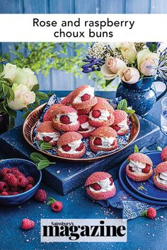 This choux bun recipe is made with craquelin pastry and is wonderful for afternoon tea or an elegant dessert. Get the Sainsbury's Magazine recipe Party Desserts, Mini Desserts, Choux Buns, Elegant Desserts, Bun Recipe, Middle Eastern Recipes, Food Trends, Cookies Ingredients, Strawberries And Cream