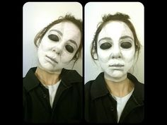 Michael Myers Makeup Look - YouTube