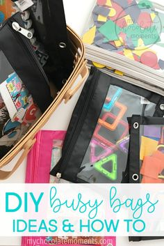 DIY busy bags - idea
