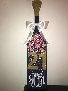 21st Birthday sorority paddle Lilly Pulitzer inspired hand painted
