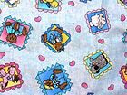 Chambray Ponies JB Junction Fabric Colorful Animal Squares Blue Background NEW - #blue, #colorful, Animal, Background, Chambray, fabric, Junction, Ponies, Squares