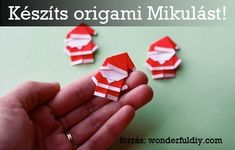 How To Create Cheerful DIY Santa Claus Origami For Your Gifts. Diy Origami, Origami Paper, Oragami, Origami Candy, Noel Christmas, All Things Christmas, Christmas Ornaments, Father Christmas, Christmas Origami