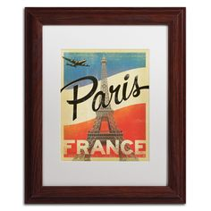 'Paris, France IV' by Anderson Design Group Framed Graphic Art