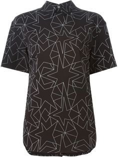 NEIL BARRETT Geometric Print Blouse. #neilbarrett #cloth #blouse