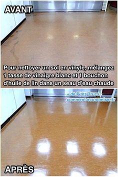 Vinaigre+Blanc+:+Le+Produit+Miracle+Pour+Faire+Briller+Les+Sols+En+Vinyle+Et+Lino.