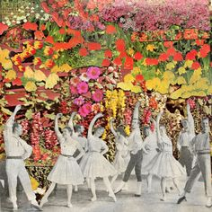 collage: dancing in the garden