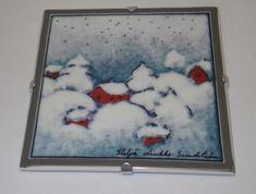 Iittala Starry Night Snow Winter Wall Plate Heljä Liukko-Sunstrom Arabia Finland #Arabia