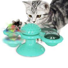 Jucarie rotativa pentru pisica, cu dispozitiv de scarpinat si masaj, morisca pentru pisici Anxiety Cat, Kittens Playing, Cats And Kittens, Gato Blue, Interactive Cat Toys, Cat Scratching, Cat Design, Jouer, Cat Love