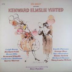 Harvey Schmidt 1982 Ben Bagley presents Kenward Elmslie Visited [Painted Smiles PS-1339] #albumcover #illustration