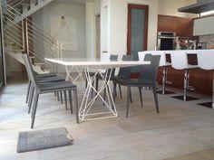 curzon dining table modloft white