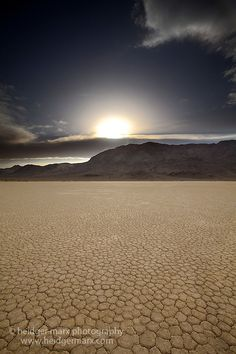 Sunset over the Racetrack, Death Valley National Park, CA