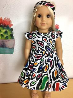 DIY Ruffled Flutter Sleeve dress tutorials for and dolls with free printable Pattern Barbie Sewing Patterns, Doll Dress Patterns, Doll Patterns Free, Shirt Patterns, Sewing Doll Clothes, Girl Doll Clothes, Girl Dolls, Ag Dolls, Barbie Clothes