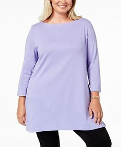 e436c5cf5b9 Purple Tunic Plus Size Tops - Macy s Macy Gray