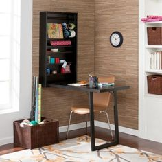 Space saver fold out craft desk
