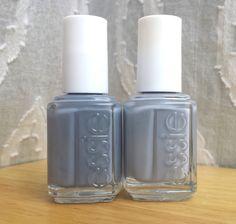 Polish or Perish: Birthday Grey - Essie Petal Pushers Petal Pushers vs Cocktail bling