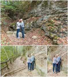 Engagement Photo Session at Natural Bridge State Park in the Red River Gorge. Kentucky Wedding, Kentucky Wedding Venue, Outdoor Venue, Kentucky Bride, Southern Bride, Outdoor Engagement, Fall Engagement, Cliff, Sunset, Hiking, Forest, Fall Colors. Kevin and Anna Photography www.kevinandannaweddings.com