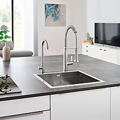 Grohe Blue Home Mono kjøkkenarmatur Med filtrert, avkjølt og musserende vann Grohe Blue, Sink, Red, Home Decor, Sink Tops, Vessel Sink, Decoration Home, Room Decor, Vanity Basin