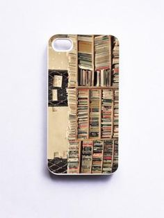 IPhone Case. Book Shop In Venice. Gift For Book Lovers. White Case. IPhone 4 And 4S Accessory. Venic | Luulla