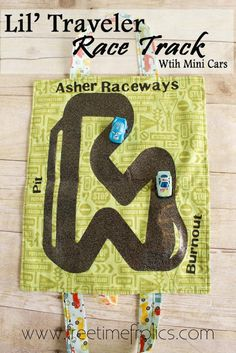 Lil' traveler race track tutorial with Mini cars via Free Time Frolics #boytoys #tutorial
