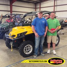 Thanks to Tyler and Eugene Martin Jr. from Dothan AL for getting a 2017 Can Am Commander XT. @HattiesburgCycles