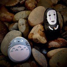 Totoro & Kaonashi on the rock !!!