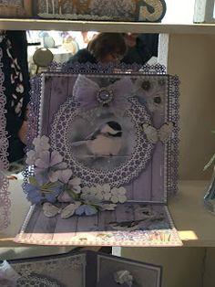 Gerda's Hobbyshop: Foto's Demo 4 van 4 - Miranda Bouhof! Easel Cards, Big Shot, Punch, Van, Frame, Vintage, Decor, Photos, Handmade Cards