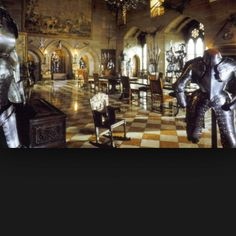 Suits of armor on display at Hampton Court