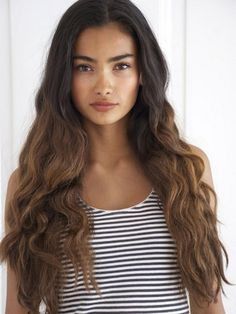 Kelly Gale - dark brown to light brown ombre @Laura Jayson Jayson wiesner