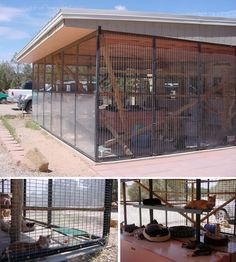 This is how the enclosures look at Best Friends.  These are our original inspiration, though we want our construction to integrate more with our house design.