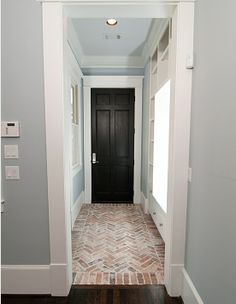 Herringbone brick floor layout