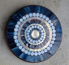 Decorative Stained Glass Mosaic Mandala Lazy Susan/Glass on Wood/Home…