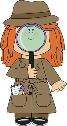 Girl Detective with Magnifying Glass                              …