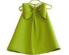 Gran lazo vestido, niñas primavera verano, mezcla lino niño tienda vestido, niña de las flores, ocasión especial Vestido