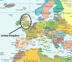 Resultado de imagem para mapa inglaterra europa