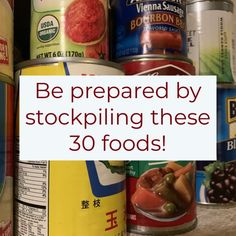 30 Must Have Food/Pantry Items to Stockpile – Rogue Preparedness - Baby Supplies Emergency Food Storage, Emergency Food Supply, Emergency Preparedness Kit, Emergency Preparation, Emergency Supplies, Food For Emergencies, Hurricane Preparedness, Emergency Water, Survival Food