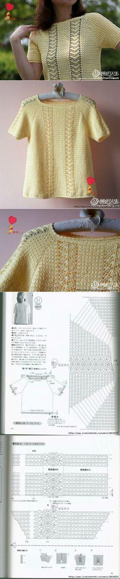ru by DixiePearl Crochet Woman, Love Crochet, Easy Crochet, Knit Crochet, Crochet Hats, Crotchet Dress, Crochet Shirt, Crochet Jacket, Knitting Patterns
