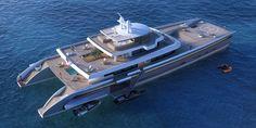 Yacht de luxe design de 71 mètres de long - #Luxe - Visit the website to see all photos http://www.arkko.fr/yacht-luxe-design-manifesto/