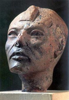 King Aye (Ay). Amarna period head of an aged man sometimes thought to depict Aye, Cairo museum #JE37930