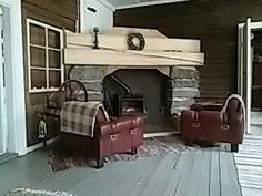Pirtin fireplace.