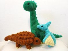 Make a crochet dinosaur sure to delight any dino-lover! We've got patterns for amigurumi dinosaurs, hats, home decor and more!