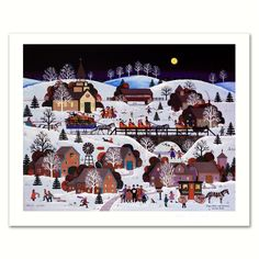Jane Wooster Scott Jingle Bells & Carolers, Limited Edition Lithograph -