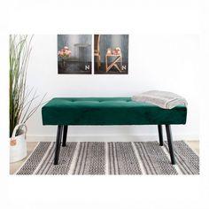 Elegant grøn bænk  #indretning #interior #interiørbutikken #bænk #grønbænk #boligindretning