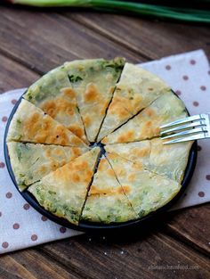 2- Chinese Scallion Pancakes _ also known as 葱油饼 _ is one of the famous & traditional Chinese street foods & is ideal for Chinese breakfast. Those crispy & aroma pancakes are available all around China. Making your own scallion pancake at home is easy & enjoyable.