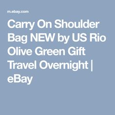 Carry On Shoulder Bag NEW by US Rio Olive Green Gift Travel Overnight   eBay