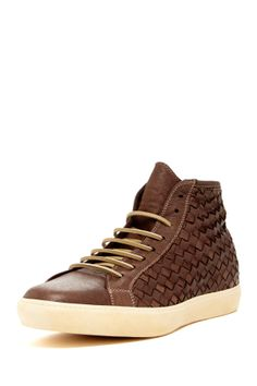 Intreccio Sneaker in glace by by PdO (Pantofola d'Oro Italy)$350 - $149 @HauteLook. - Round toe - Lace-up  - Woven leather construction - High-top - Made in Italy - Leather upper, manmade sole