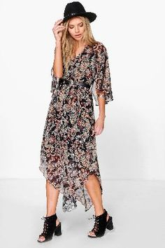 #boohoo Hem Paisley Maxi Dress - multi DZZ86875 #Pared back day dresses are the perfect base for layering up this seasonNo off-duty wardrobe is complete without a casual day dress. Basic bodycon dresses are always a winner and casual cami dresses a key piece for pairing with a polo neck, giving you that effortless everyday edge. Tone down the twinkle for day by teaming a sequin slip dress with a jersey tee