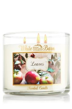 Leaves 14.5 oz. 3-Wick Candle - Slatkin & Co. - Bath & Body Works A fragrance that embodies the richness of fall - with all of its colors and pleasures - featuring notes of golden nectar, ripe delicious apple and red berries.